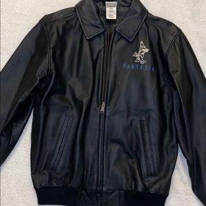 Disney Black Leather Fantasia Jacket